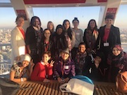 Aowen mentors young women on the London Eye for International Day of the Girl