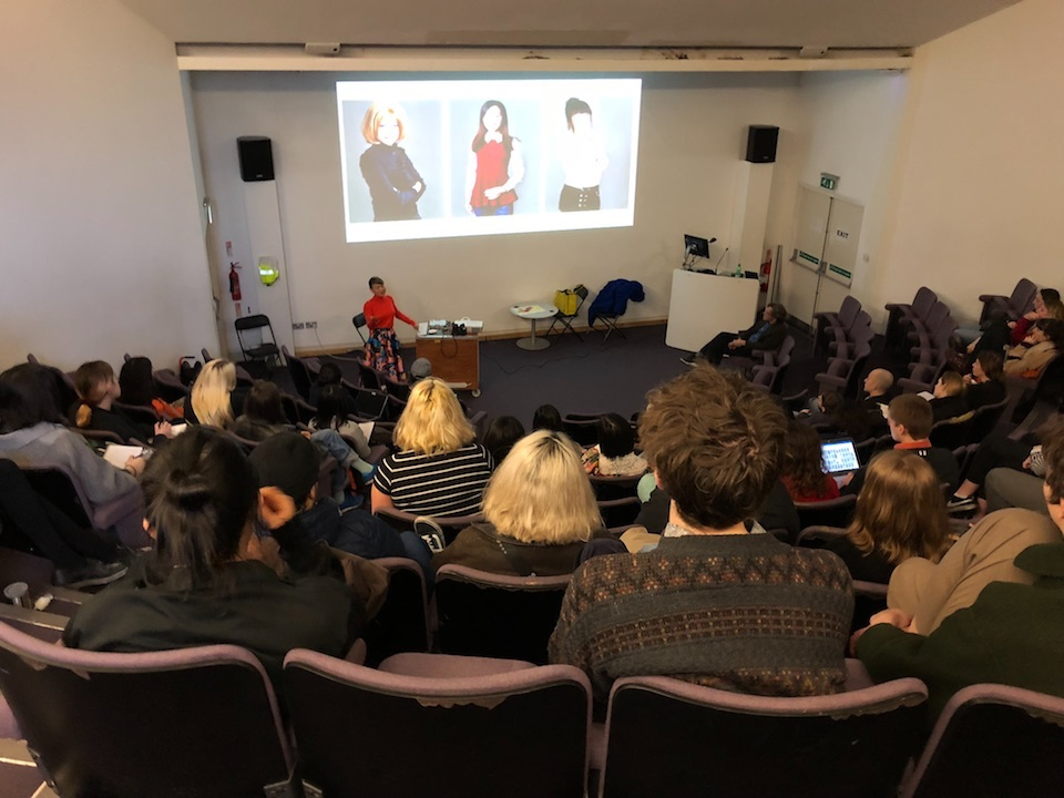 Lecturing at Chelsea College of Arts